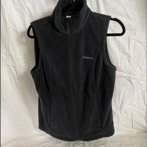 Black Columbia Fleece Vest